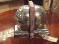 Pair of Polished Aluminium Globe Bookends