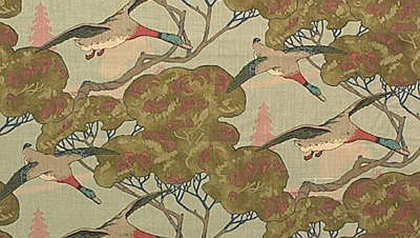 Flying Ducks Fabric & Wallpaper