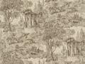 ZCHM07005 Le Temple de Jupiter Fabric & Wallpaper
