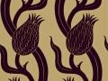 ZTRA07005 Persian Tulip Flock Wallpaper