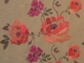 Louisiane Coral Rose Beige Fabric