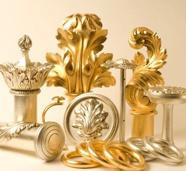 Classic gold & Silver Metal Leaf Finishes