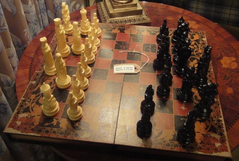 Antiqued Book Folding Chess Set