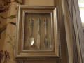 Antique Gold Framed Cutlery Wall Plaque