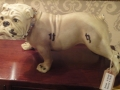 Antique White Bulldog Figure