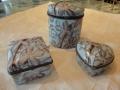 Blue Ceramic Trinket Boxes with Bird Detail