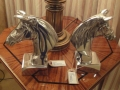 Pair of Aluminium Horse Head Book Ends